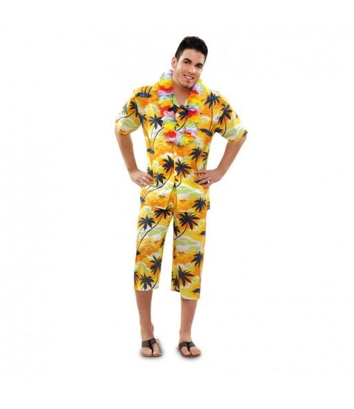 Déguisement Hawaïen Jaune homme
