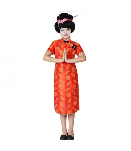 Déguisement Chinoise Rouge pour fille