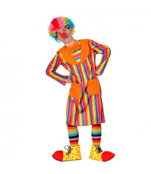 Déguisement Clown Rayé Multicolore pour garçon