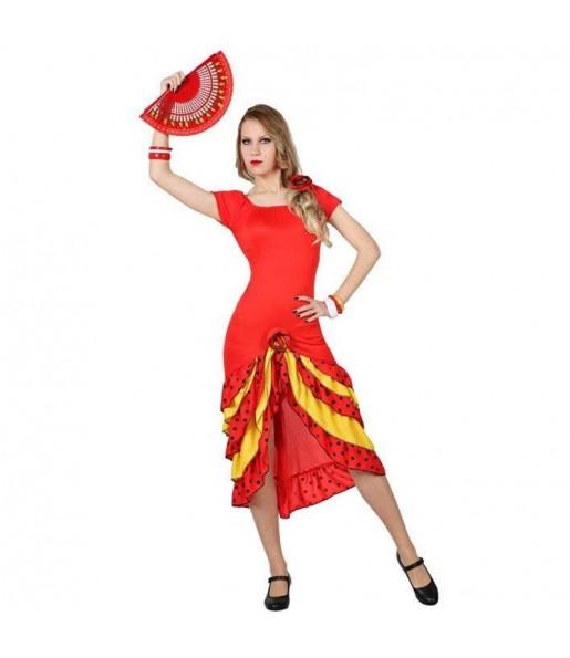 Déguisement Rumba Rouge pour femme
