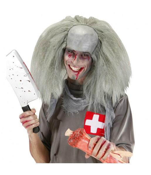 Perruque Zombie avec chauve