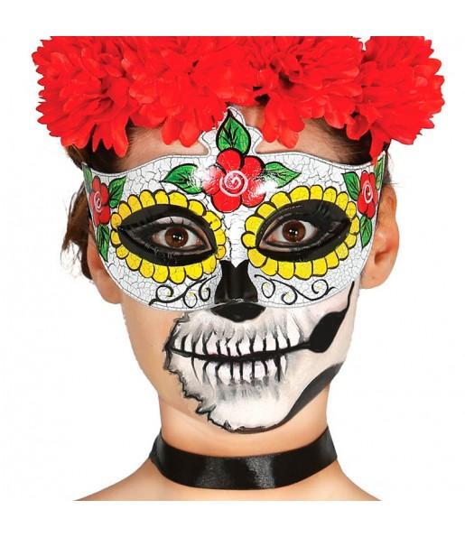 Masque Loup Catrine Squelette Mexicain