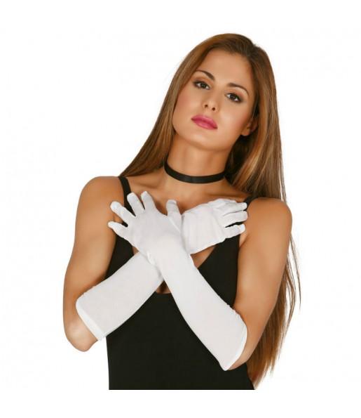 Paire de Gants 45 cm - Blancs