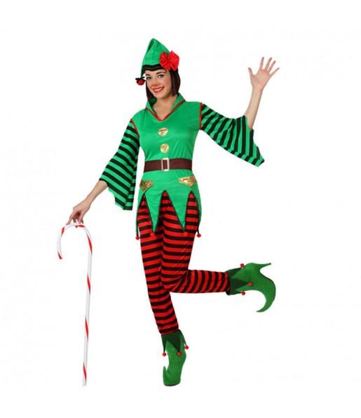 Déguisement Elfe femme du Père Noël femme