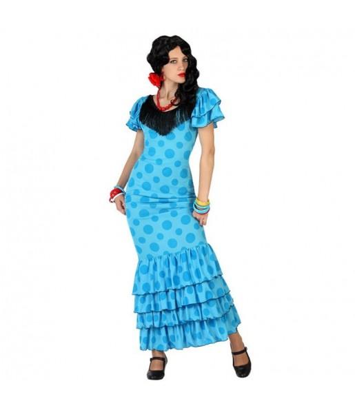 Déguisement Flamenco Bleu (Sévillane)