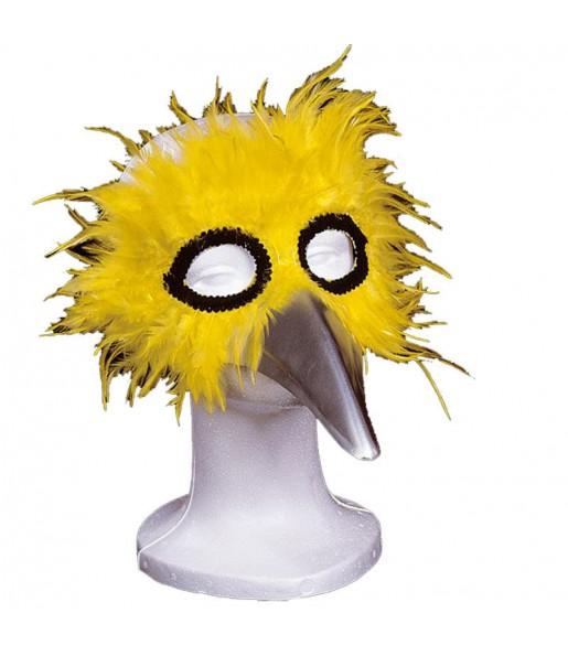 Masque avec Plumes - Jaune