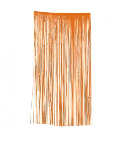 Rideau Drap Troué Orange