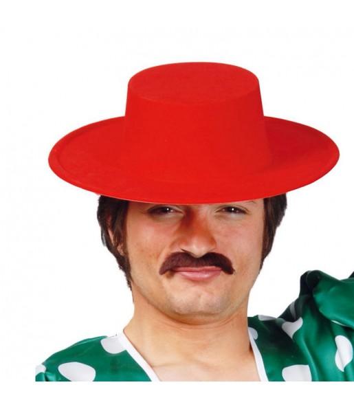 Chapeau Cordouan plastique couleur rouge