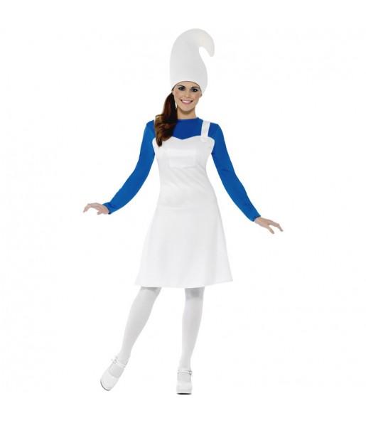 Déguisement Gnome Femme Bleu