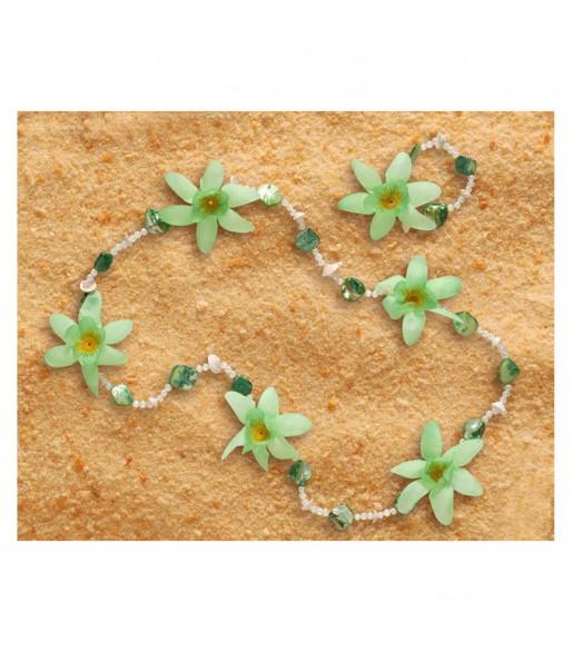 Collier et Bracelet Hawaïen Luxe Vert