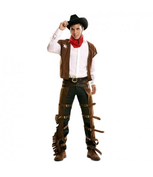 Déguisement Cowboy Marron adulte