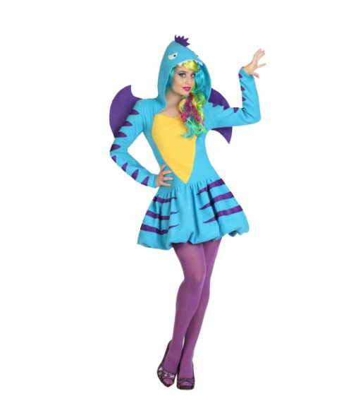 Déguisement Dragon Bleu Femme