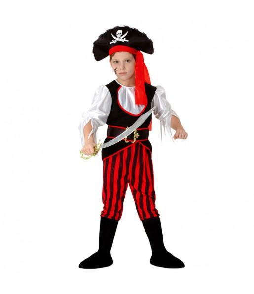 Déguisement Pirate garçon à rayures
