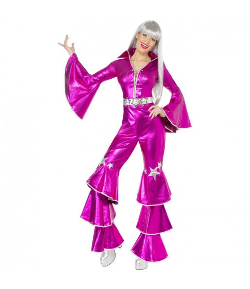 Déguisement Disco Dancing Rose femme