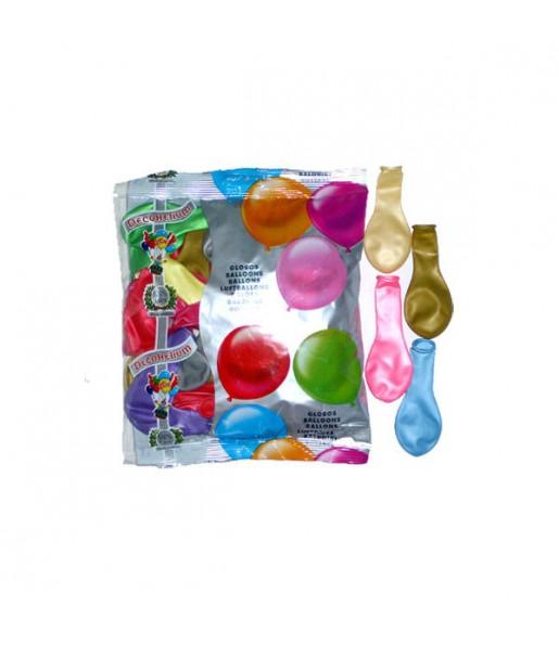 50 Ballons Métalliques Multicolore