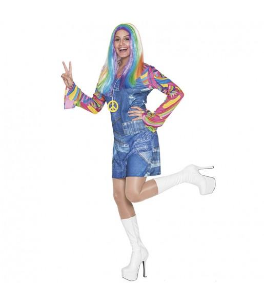 Déguisement Hippie Jeans Femme