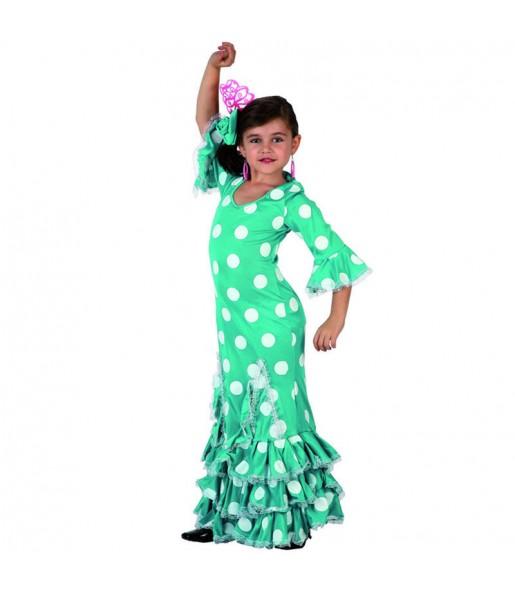 Déguisement Flamenco (Sévillane) Verte enfant