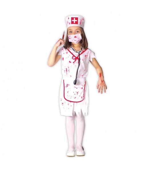 Déguisement Infirmière Sanglante Zombie Enfant