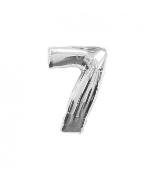 Ballon chiffre 7 – Argent