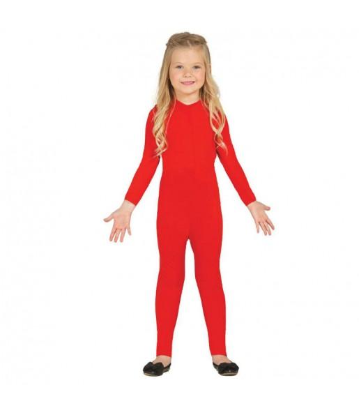Déguisement Justeaucorps Rouge Spandex Enfant