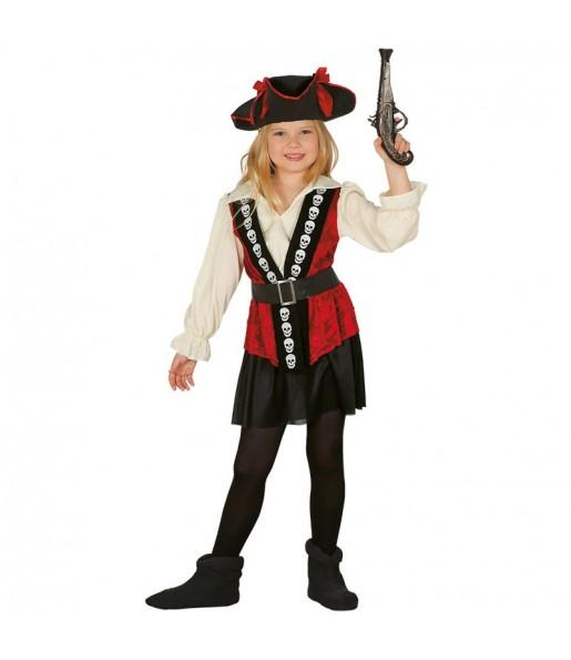 Déguisement Pirate Tête de mort Fille