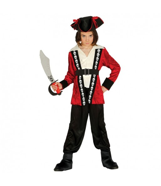 Déguisement Pirate Tête de Mort Garçon