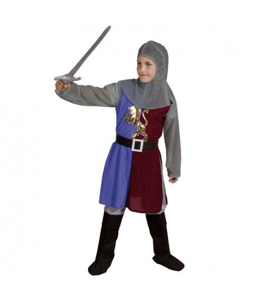 Déguisement Chevalier Médiéval Grenat pour garçon