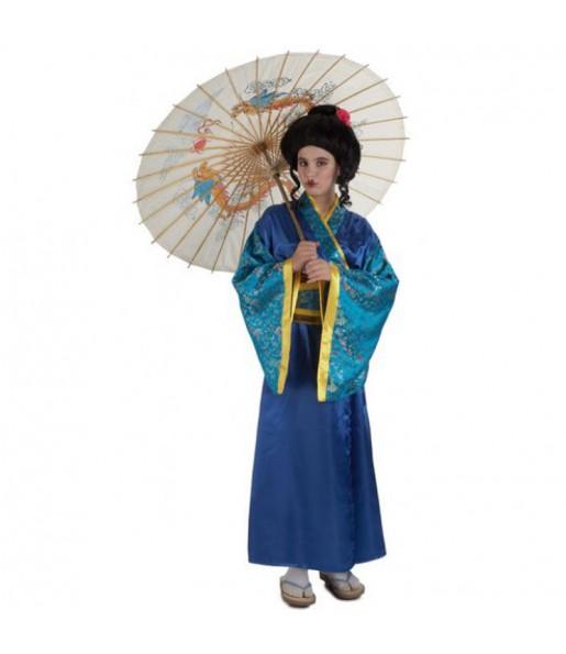 Déguisement Geisha bleue