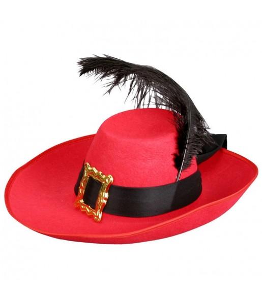 Chapeau Mousquetaire Rouge adulte
