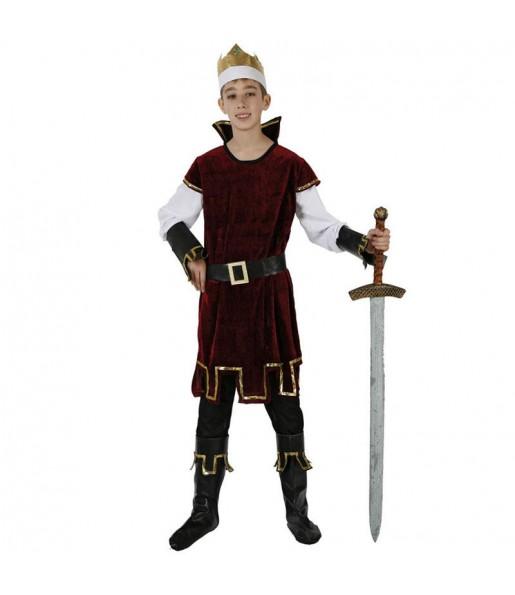 Déguisement Roi Médiéval Rouge pour garçon