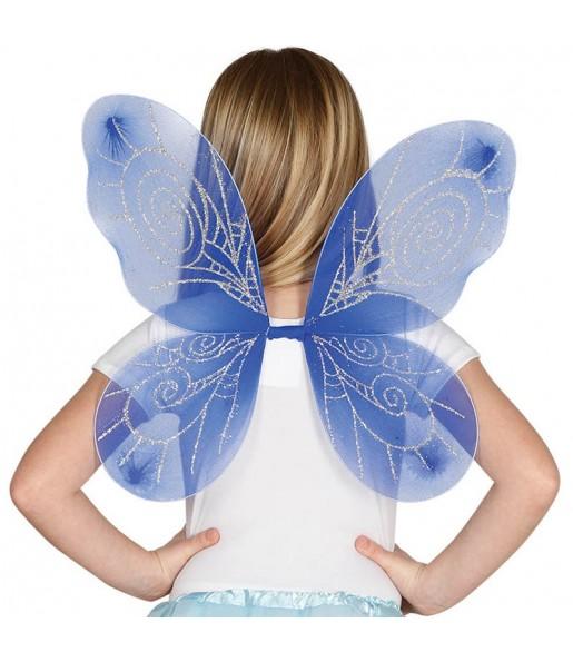 Ailes papillon bleue