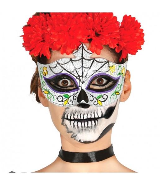 Masque-loup Catrina Jour des Morts