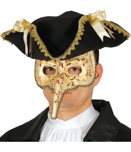 Masque loup Vénitien avec pic