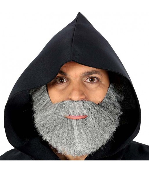 Barbe touffue grise