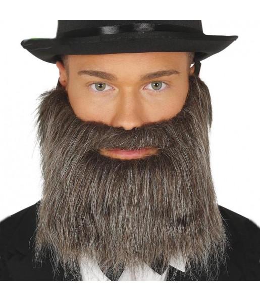 Barbe et moustache grise