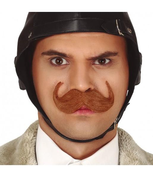 Moustache Anglais marron