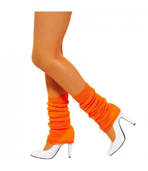 Guêtres Orange Fluo déguisement
