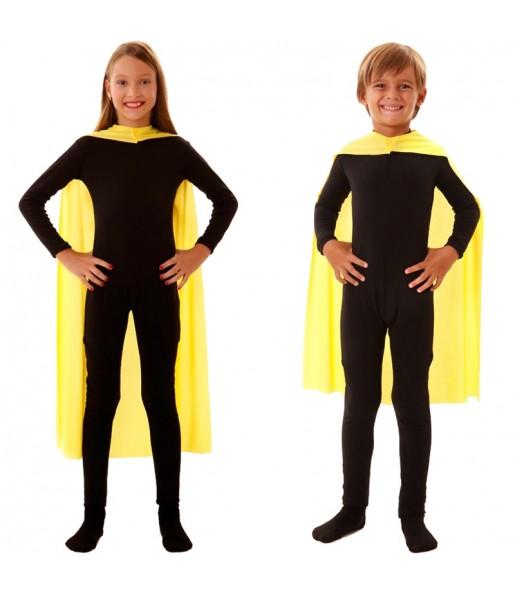 Cape super héros jaune enfant