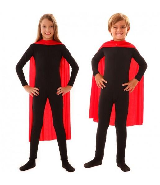 Cape super héros rouge enfant