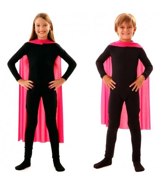 Cape super héros rose enfant