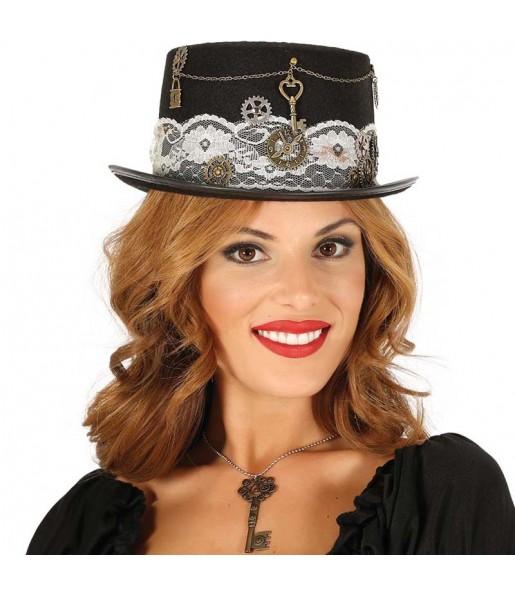 Chapeau Haut Forme Steampunk Femme