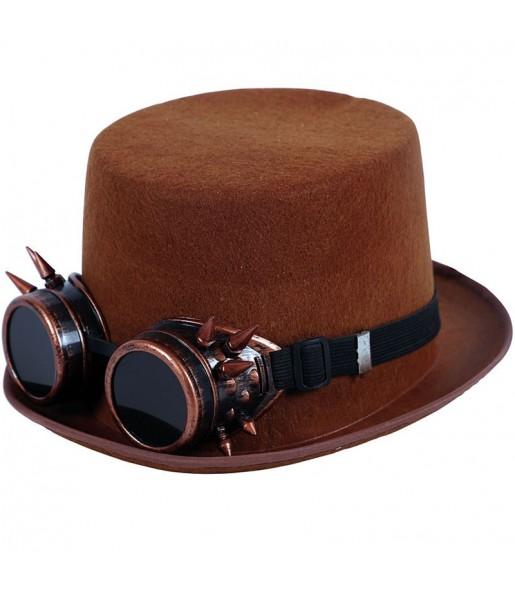 Chapeau Haut de Forme Steampunk avec lunettes