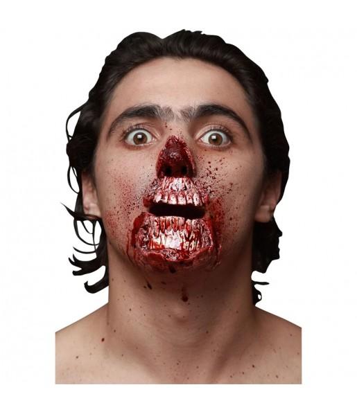 Fausse Cicatrice Visage Zombie en latex