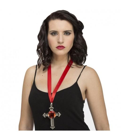 Collier croix Vampire