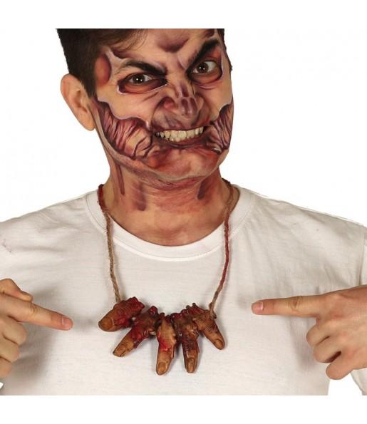 Collier Cannibale avec doigts sanglants