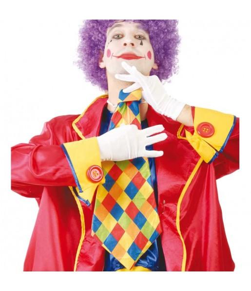 Cravate clown à carreaux