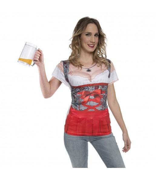 Déguisement Tee-shirt Allemande Oktoberfest femme