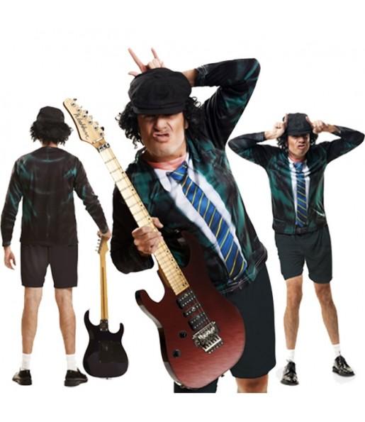 Tee-shirt hyperréaliste Angus Young adulte