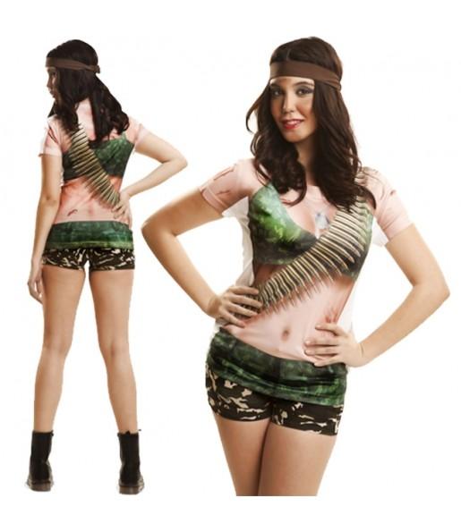 Tee-shirt Rambo hyperréaliste Femme