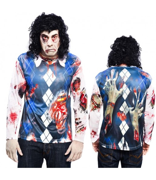 Tee-shirt hyperréaliste Zombie Homme